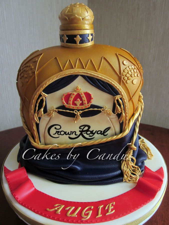 Crown Royal Bottle Cake Tutorial