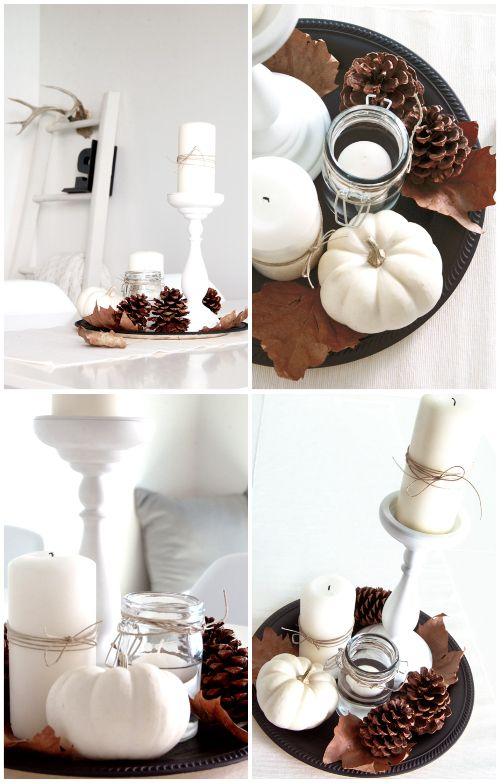 Wonen seizoenen herfst decoratie met pompoenen en - Decoratie interieur corridor ingang ...