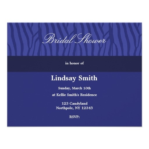 Royal Blue Bridal Shower Invitation