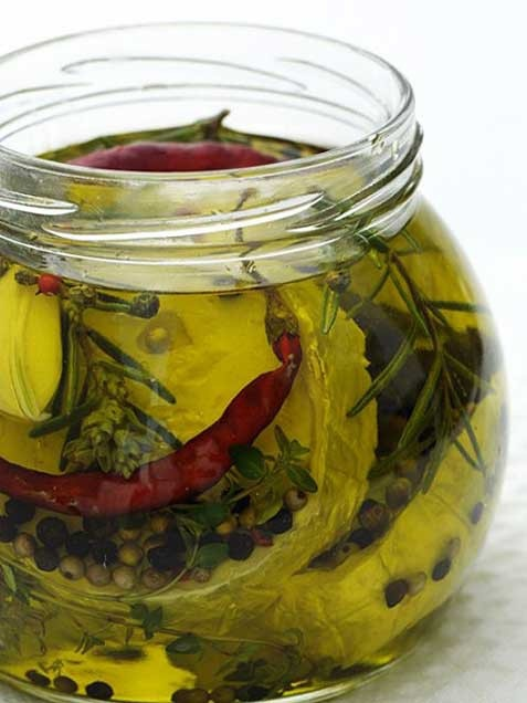 Goat Cheese in Herbed Oil | interesting | Pinterest