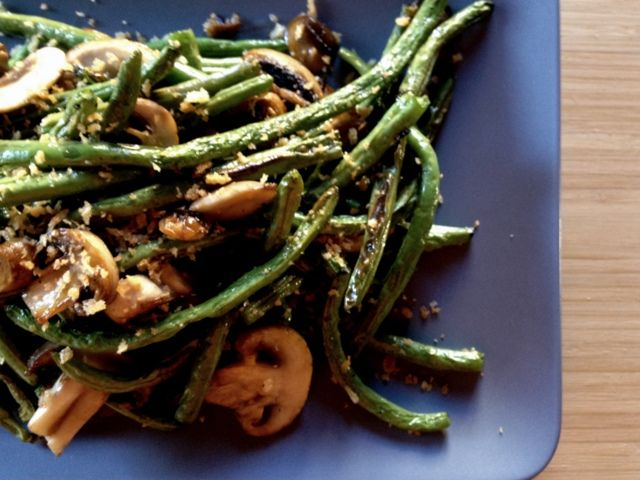 greenbeans and mushrooms roasted | Roasted Green Beans & Mushrooms ...