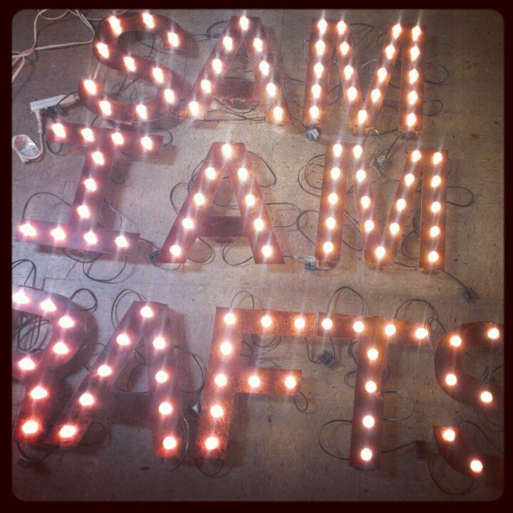 Wall mounted light up letters Light Up Letters Pinterest