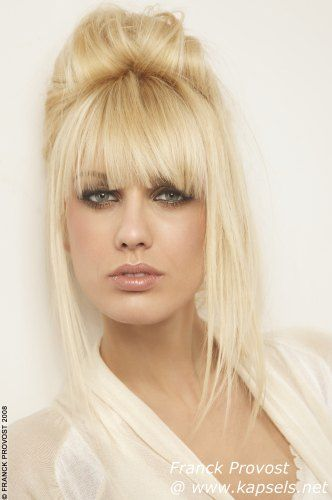 Updo bangs | Hair | Pinterest