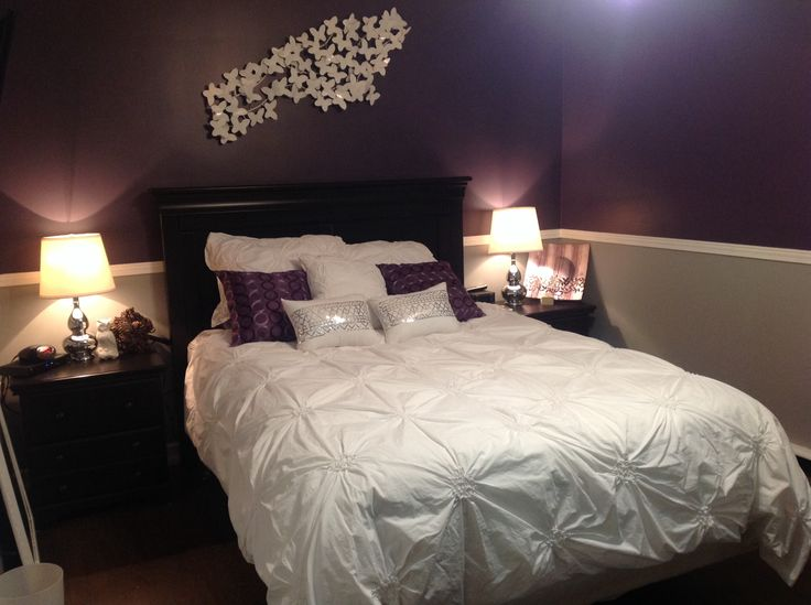 grey purple and white bedroom house inspirations pinterest