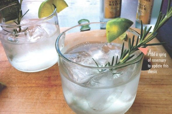Gin & Tonic with Rosemary   Libations   Pinterest