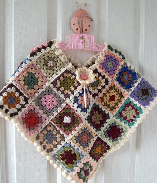 Free Crochet Poncho Pattern For Little Girl : little girls crocheted poncho... crochet... Pinterest