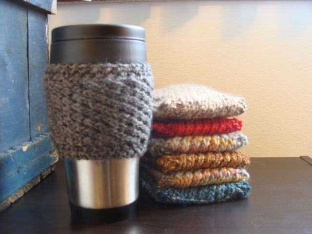 Mug Cozies Knitting Pattern : Free knitted coffee mug cozy pattern just cause