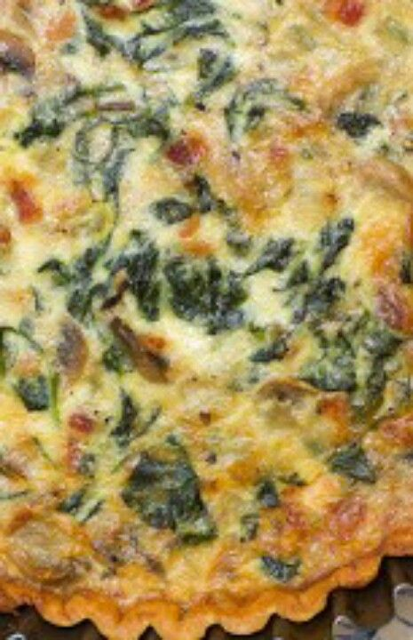 Spinach and mushroom pie. | Food & Drink | Pinterest
