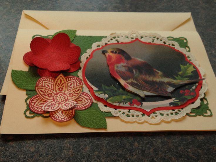 Christmas card Victorian winter robin: pinterest.com/pin/257971884878933903