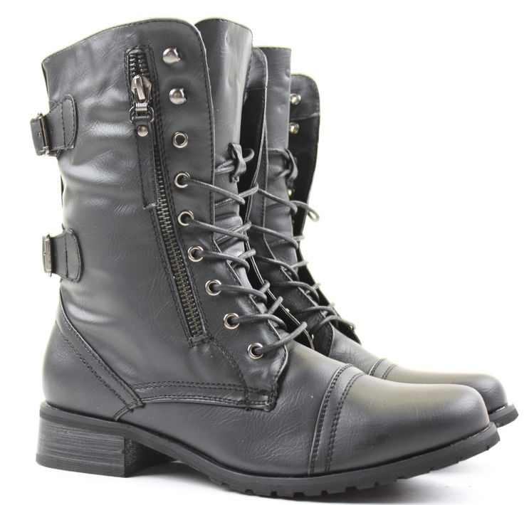 Unique Celebrate Your Love Of Militarystyle Fashion This Season With The Wanted &quotPilsner&quot Fur And Fleece Combat Boots These Midcalf, Laceup Boots Feature A Beautifullysoft Fauxsuede Construction With Fauxfur Trim And Dualbuckle Detailing On