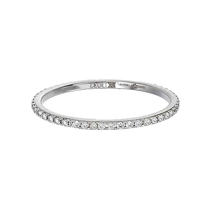 Thin diamond eternity band Engagement Rings