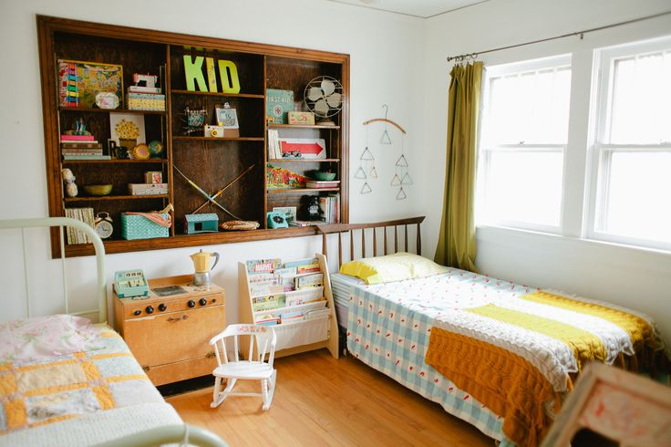 Adorable, retro-styled kids' room