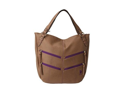 Polo Assn Plymouth Tote - nice bag - love the purple zippers
