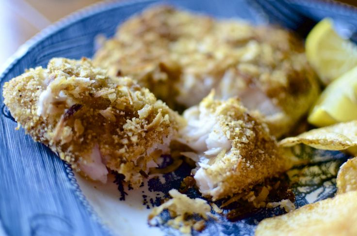 Toasted Coconut Tilapia - Baked Im thinking this for tomorrow nights ...