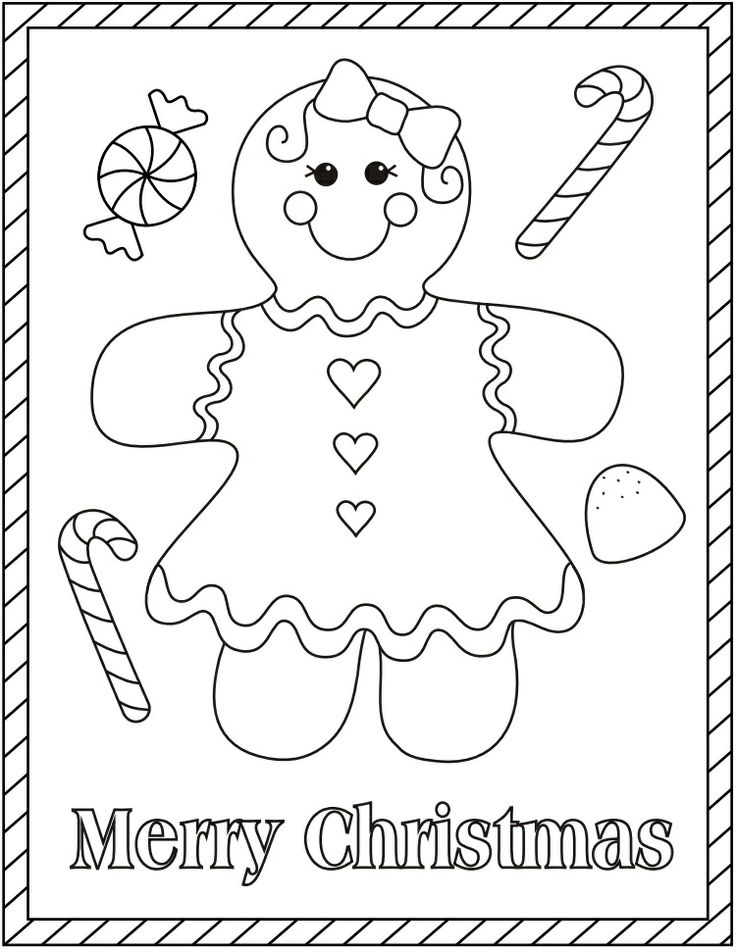 gingerbread girl | Christmas Coloring Pages | Pinterest