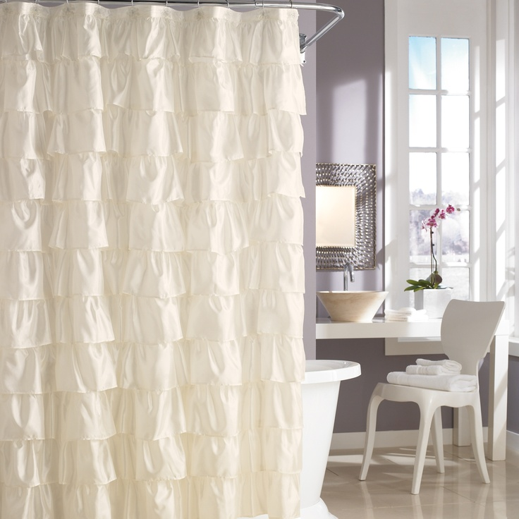 steve madden ruffles in ivory shower curtains pinterest