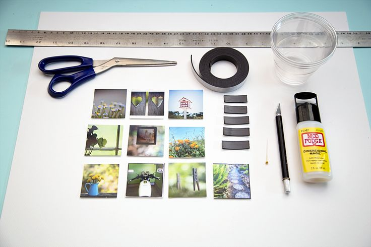 Tun your fridge into a gallery wall magnets