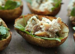 Smoked Trout Potato Skins | Recipe