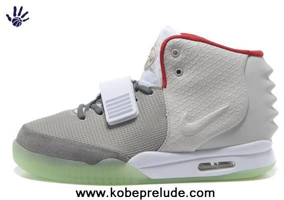 Buy Men Shoes Gray Red Nike Air Yeezy II For Sale