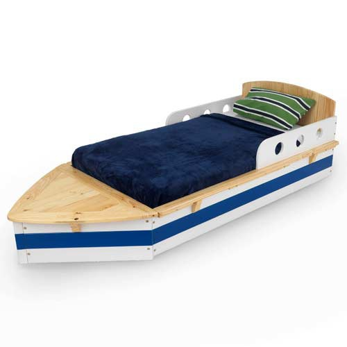 KidKraft Wooden Boat Toddler Bed  { asher }  Pinterest