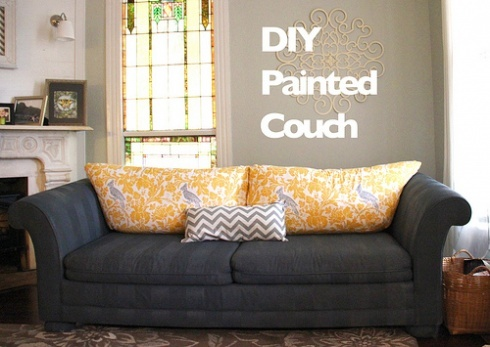 Painted Couch... who knew? TUTORIAL HERE