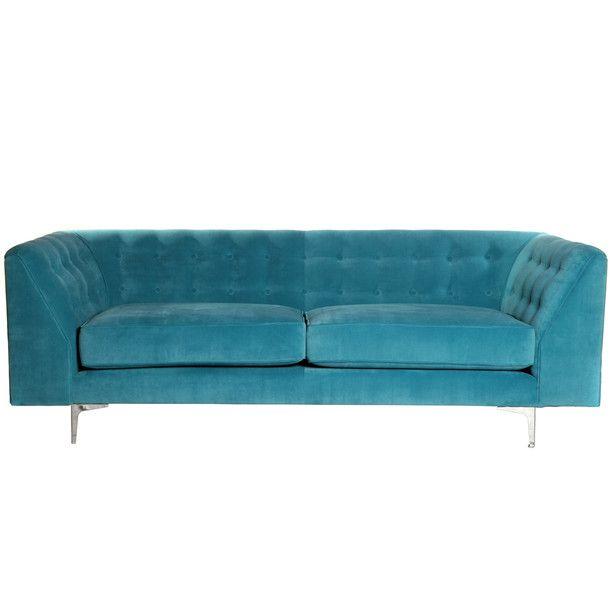 Love deco sofa turquoise large me wants pinterest - Turquoise sofa ...