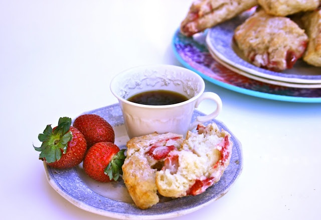 Fresh Strawberry Scones   Recipes   Pinterest