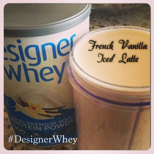 French Vanilla Iced Latte | Designer Whey | Pinterest