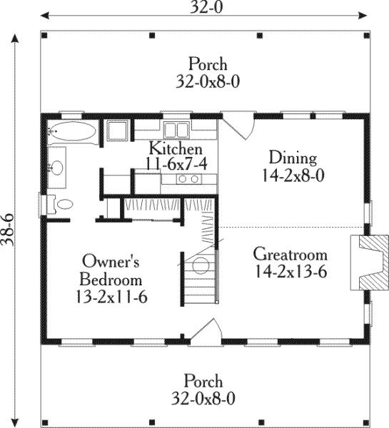 Floor plan potential small house plans pinterest for Small house design pinterest