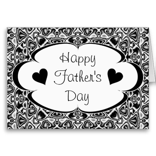 father's day card black and white