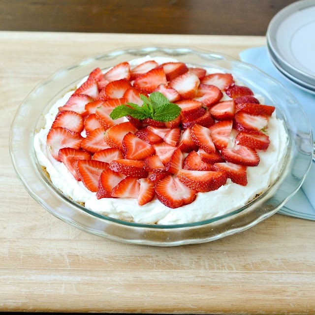 Good Thymes and Good Food: Strawberries and Cream Pie
