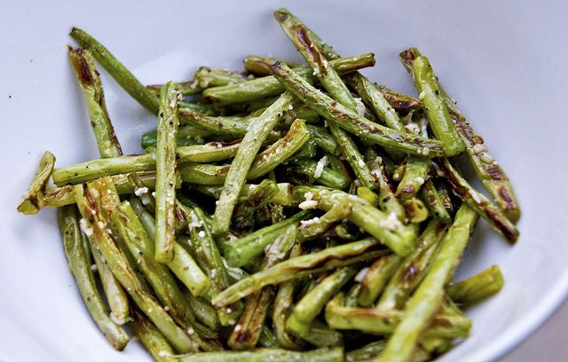 Roasted Parmesan Green Beans Recipe — Dishmaps