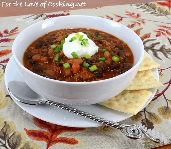 Three Bean and Beef Chili | Fall/winter recipes | Pinterest