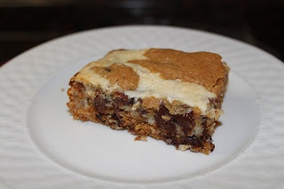 Reese's Peanut Butter Cup Chocolate Chip Cookie Cheesecake Bars