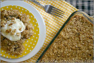 Banana Nut Bread Baked Oatmeal | Recipes to Try | Pinterest