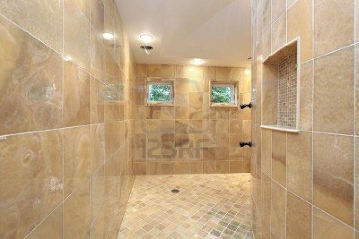 large walk in shower for the home pinterest. Black Bedroom Furniture Sets. Home Design Ideas