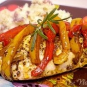 Chicken with balsamic peppers. So fast and easy, yet incredible flavor ...