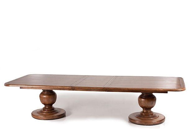 Copeland Double Pedestal Expanding Dining Table Expands To 11 Feet