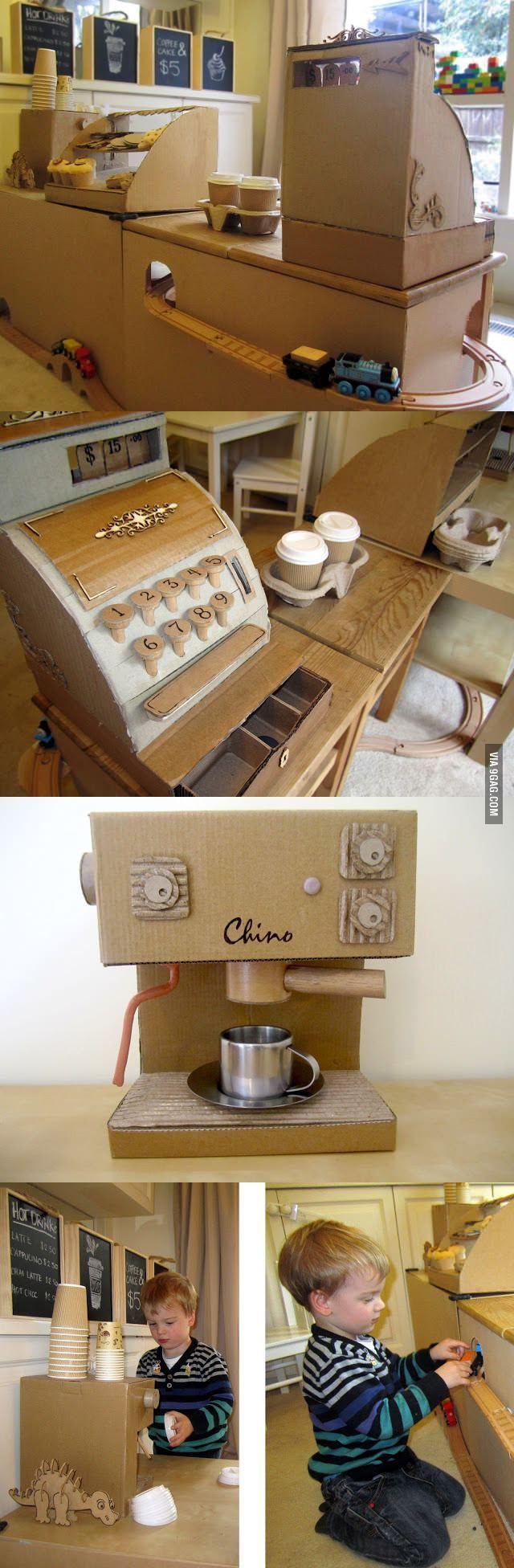 Кукольная кухня из картона своими руками