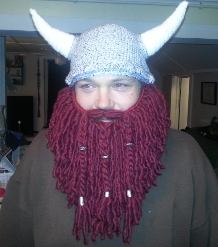 Crochet viking beard hat Beards Pinterest