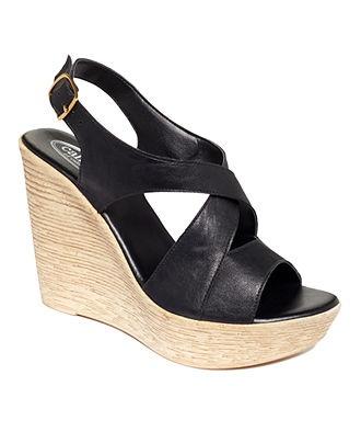 Callisto Shoes, Dixie Platform Wedge Sandals - Espadrilles & Wedges