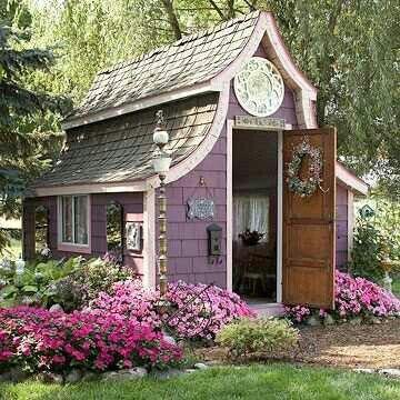 Backyard Guest House Pretty In Pink Pinterest