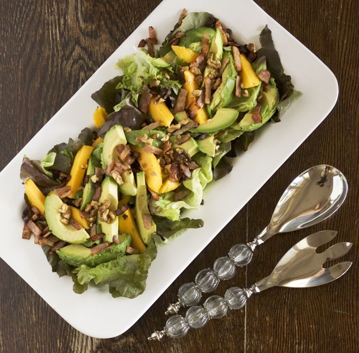 Avocado And Cantaloupe Salad With Creamy French Dressing ...