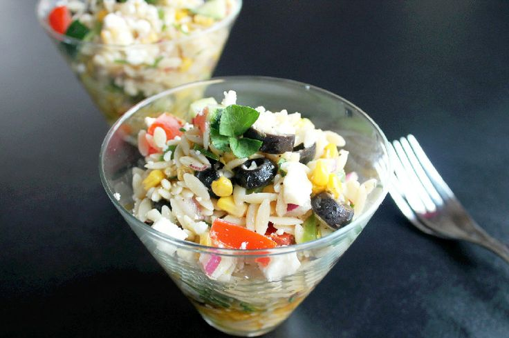 Orzo Pasta Salad with Oven Roasted Corn | Food & Drink | Pinterest