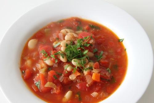 Tomato and white bean soup | Fooooooood | Pinterest