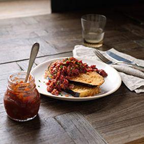 Eggplant with Chilli Tomato Jam-includes recipe