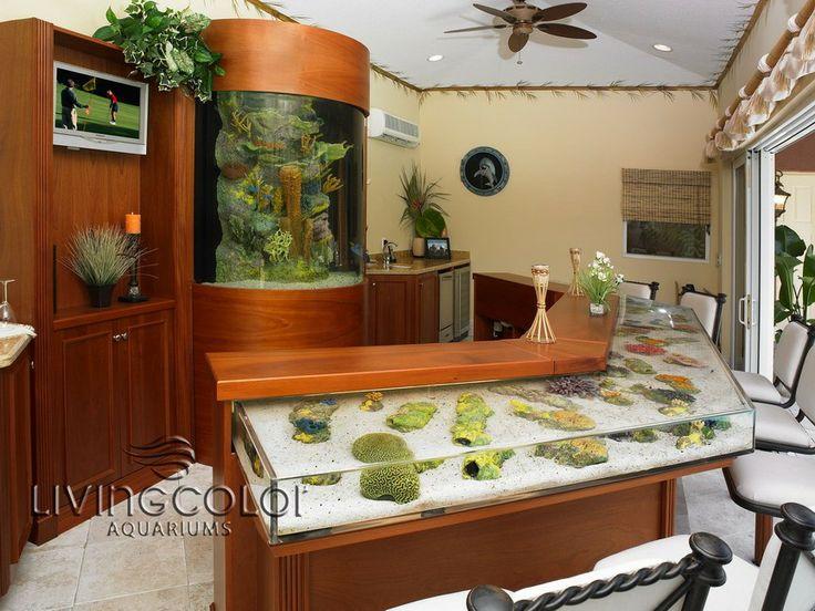 Custom bar fish tanks car interior design for Fish tank bar