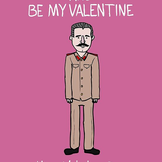 valentines card stalin