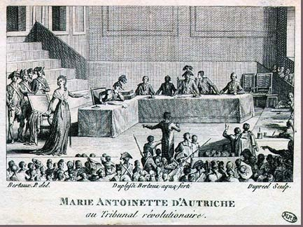 The Revolutionary Tribunal  of Marie Antoinette