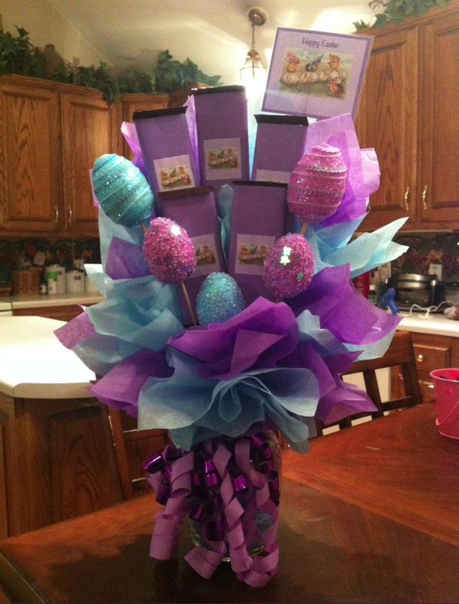 Happy easter candy bouquets pinterest